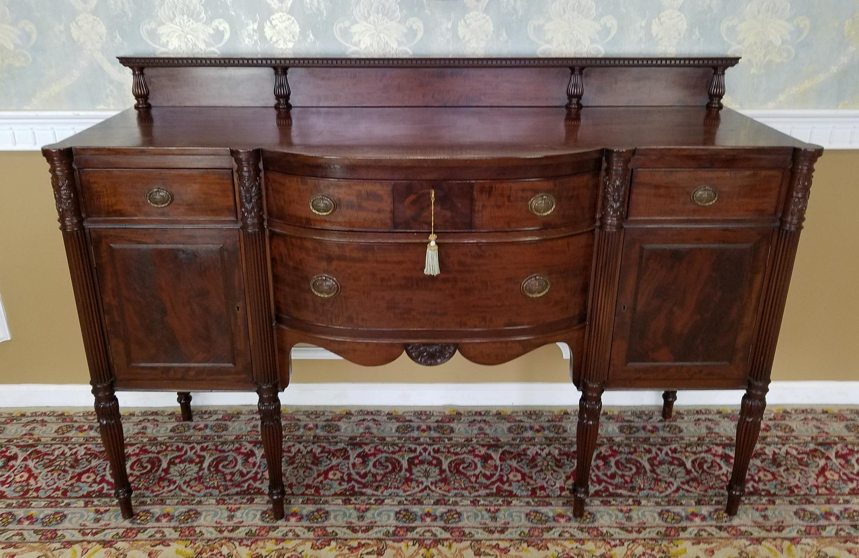 Mahogany Potthast Bros American Mahogany Sheraton Sideboard For Sale    Image 7 Of 11