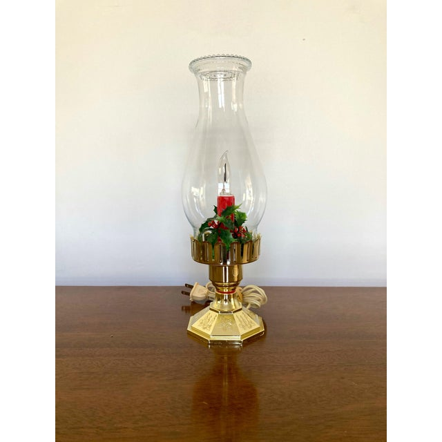 Vintage Late 20th Century Flameless Hurricane Candle For Sale In Seattle - Image 6 of 6