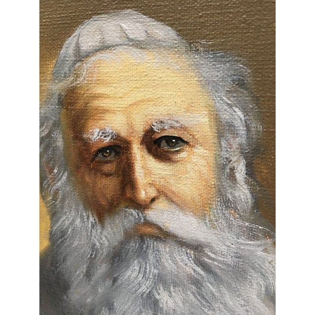 Pelbam Original Signed Oil Painting of Rabbi For Sale In Dallas - Image 6 of 6
