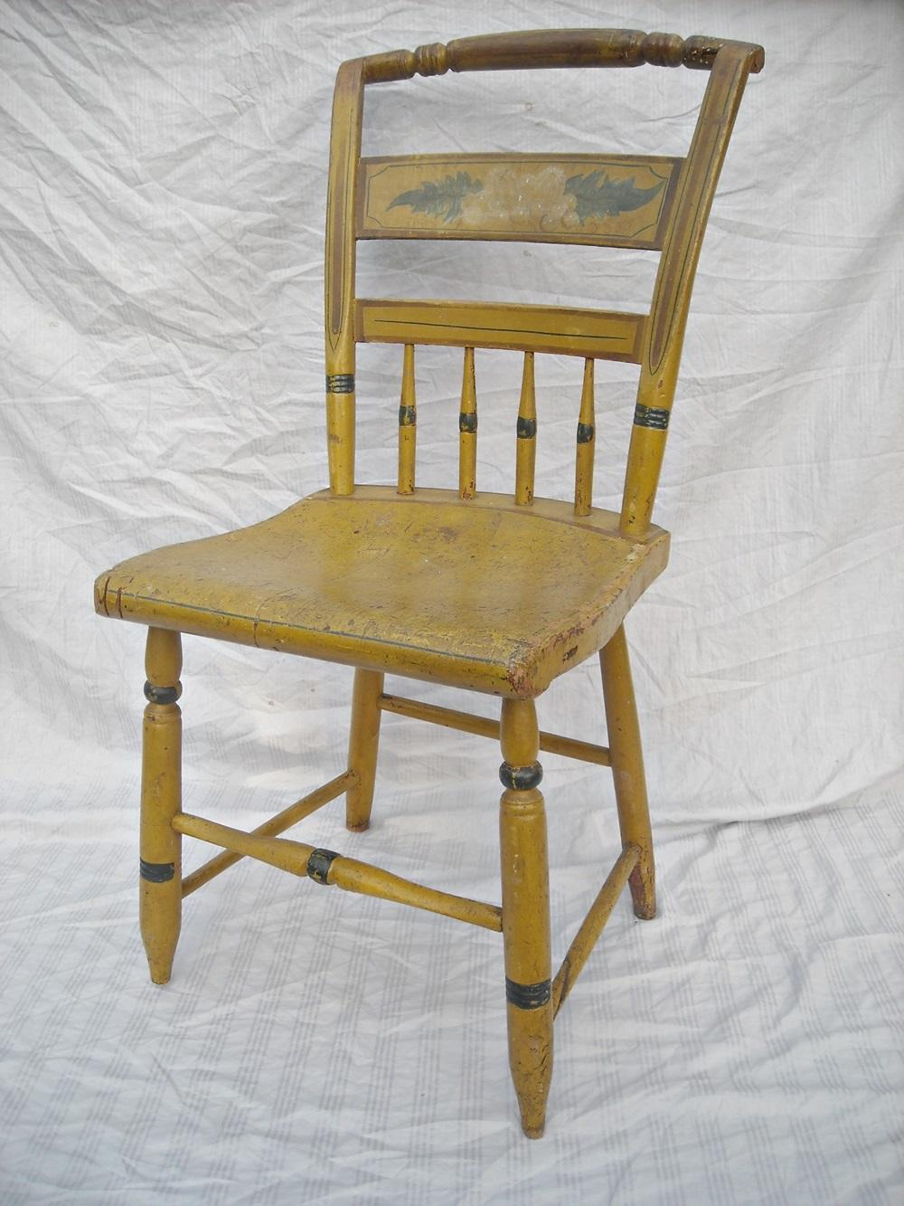What A Charming Piece! Circa 1830s   40s. Antique Primitive Style Side Chair .