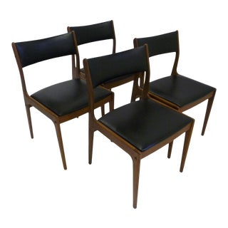 Scandinavian Modern Johannes Andersen for Uldum Mobelfabrik Danish Teak Dining Chairs - Set of 4 For Sale