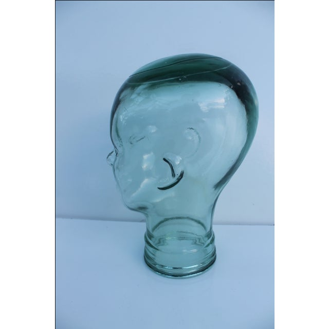 Molded Light Green Glass Head - Image 3 of 9