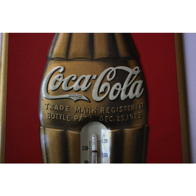 Vintage Coca-Cola Metal Thermometer Sign - Image 3 of 4