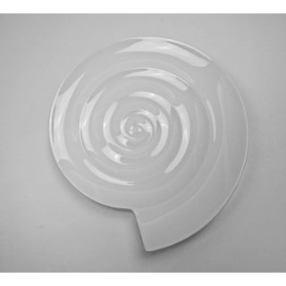 White Modernist Spiral Dish or Ashtray by Nick Munro for Wedgwood Preview