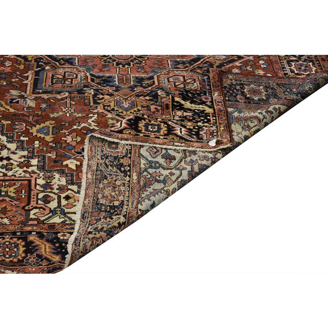 Antique Persian Heriz Rug - 9 x 11.10 - Image 5 of 9