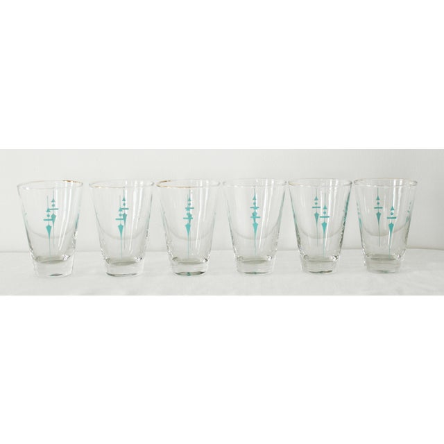 Mid-Century Modern Vintage Mid Century Water Glasses- Set of 6 For Sale - Image 3 of 3