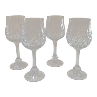 Set of 4 Vintage Cut Crystal Water Goblets For Sale