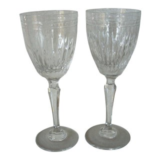 Waterford Marquis Wine Goblets - a Pair For Sale