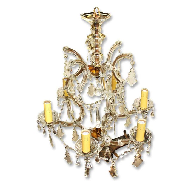 Marie Therese Crystal Antique Chandelier For Sale - Image 4 of 12