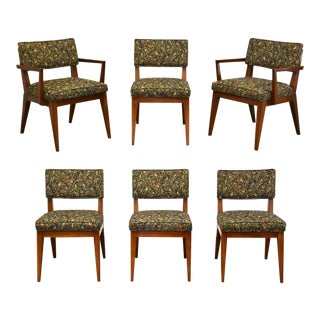 Walnut MCM Dining Chairs - Set of 6 For Sale