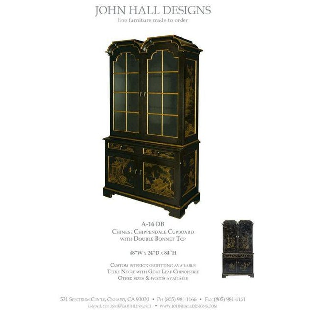 John Hall Designs Chinese Chippendale Cupboard For Sale - Image 10 of 11