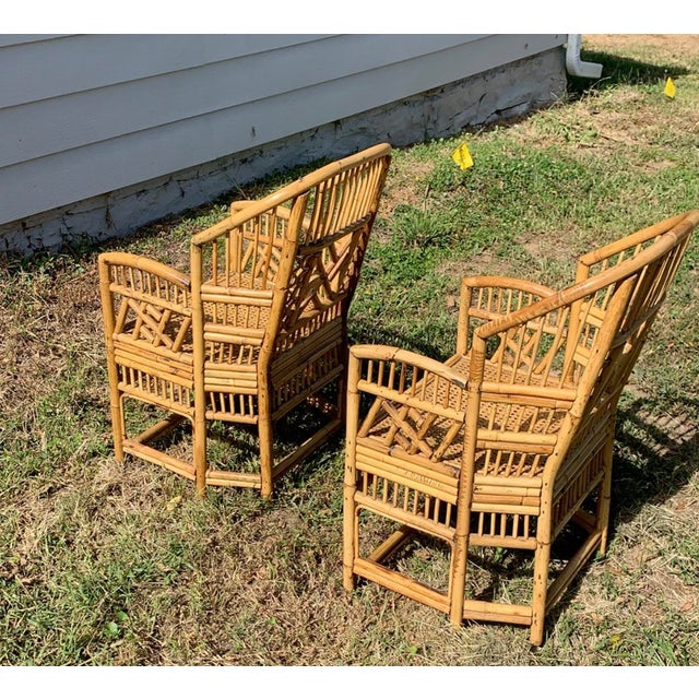 Antique Chinese Bamboo Chairs - A Pair For Sale - Image 4 of 13