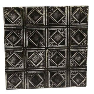 Antique Decorative Black Tin Panel For Sale