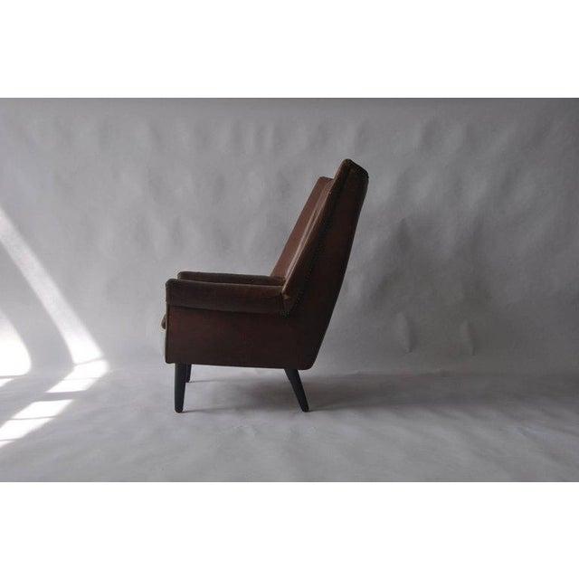 High Back Danish Lounge Chair - Image 5 of 7