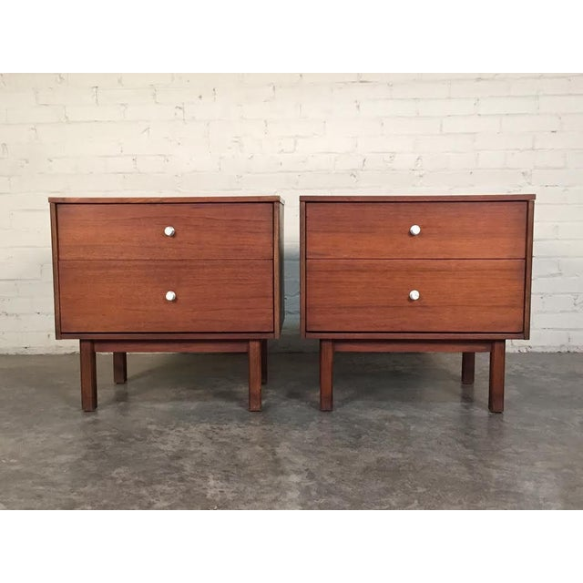 Mid-Century Danish Modern White Top Nightstands - a Pair - Image 5 of 10