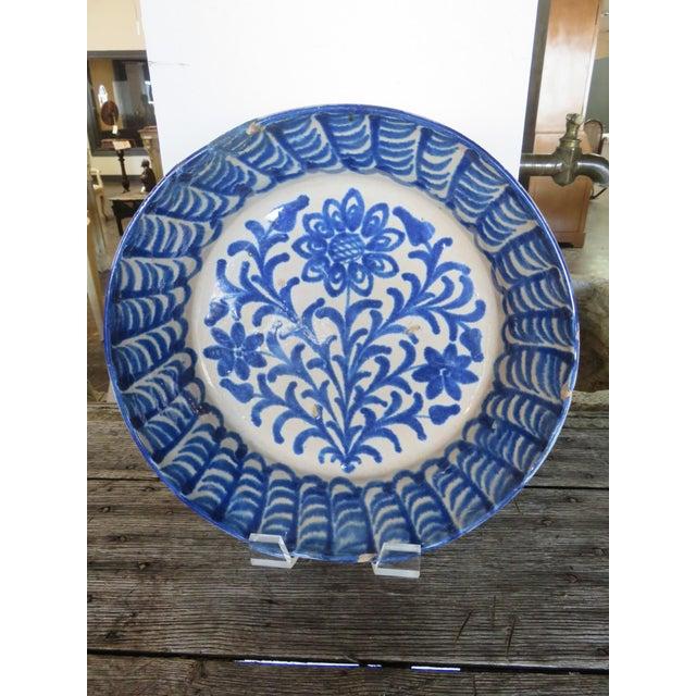 Mid 18th Century Mid 18th Century Spanish Ceramic Fajalauza Bowl From Granada For Sale - Image 5 of 5
