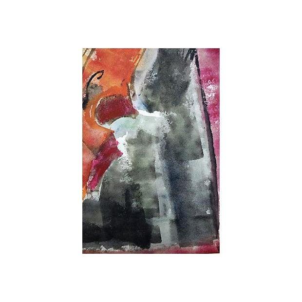 Andante Violin Watercolor Painting - Image 3 of 5
