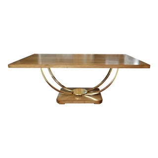 Italian Style U-Base Dining Table For Sale
