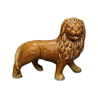 Antique English Staffordshire Lion For Sale