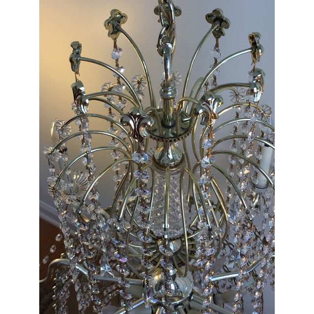 Schonbek Swarovski Strass Crystal Chandelier For Sale In Chicago - Image 6 of 7