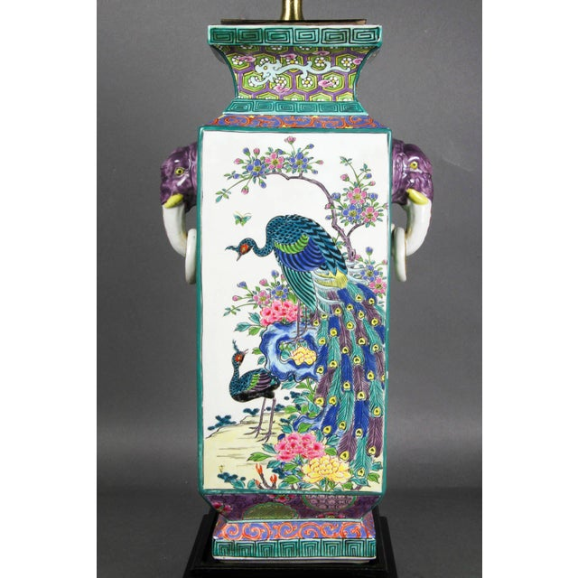 Japanese Porcelain Table Lamp For Sale In Boston - Image 6 of 9