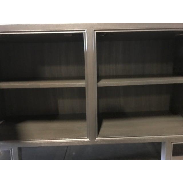 "Mid-Century Modern Truex American Furniture ""St Regis Cabinet"" Grey Oak Ceruse For Sale - Image 3 of 4"