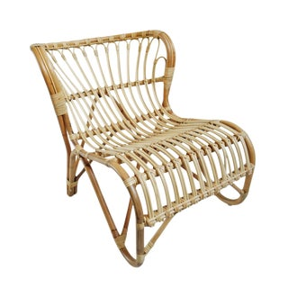 Raw Rattan Island Easy Chair For Sale