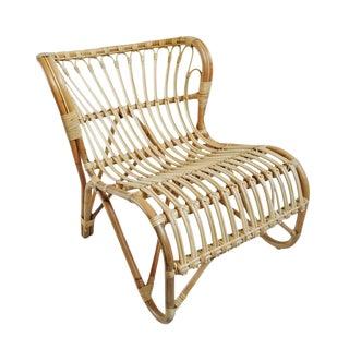 Raw Rattan Island Easy Chair For Sale