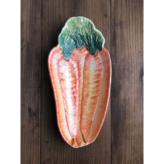 Italian Hand Painted Olfaire Carrot Shaped Serving Dish For Sale In San Francisco - Image 6 of 6