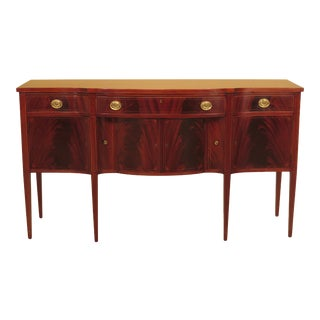 1900s Federal Custom Made Inlaid Mahogany Sideboard For Sale