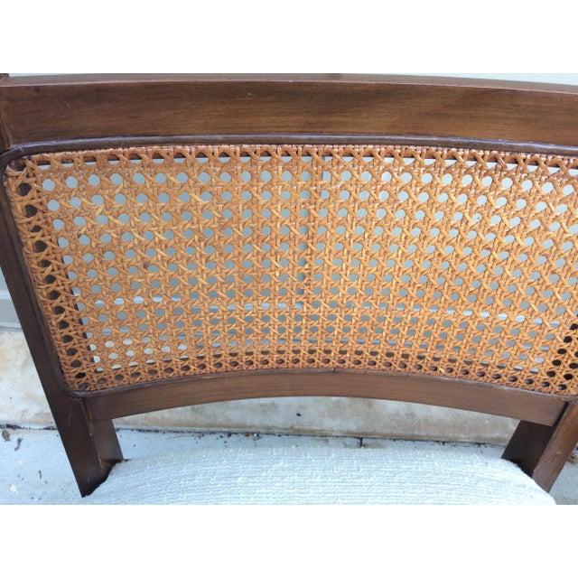 Mid-Century Walnut & Rattan Dining Chairs - Set of 4 - Image 7 of 10