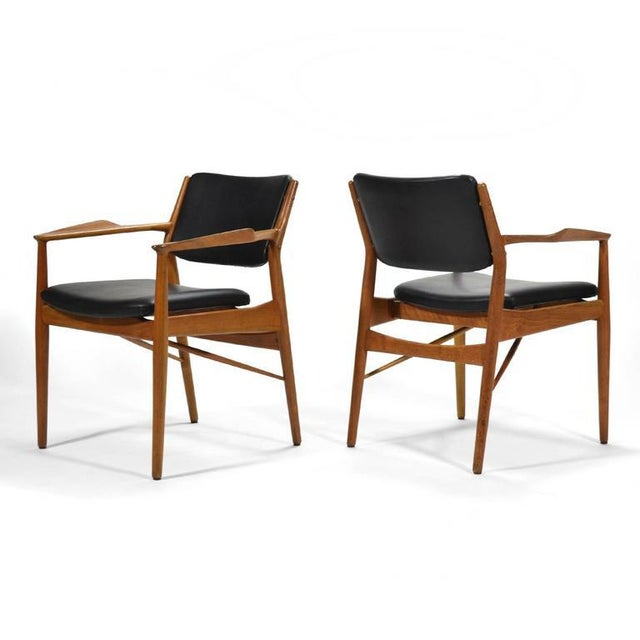 Wood Arne Vodder Armchairs by Sibast For Sale - Image 7 of 8