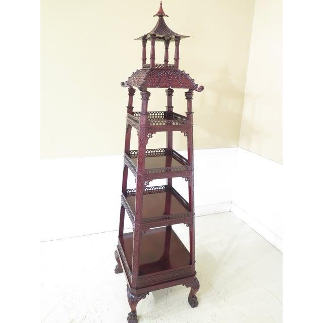 Kindel Mahogany Pagoda Vitrine For Sale - Image 9 of 13