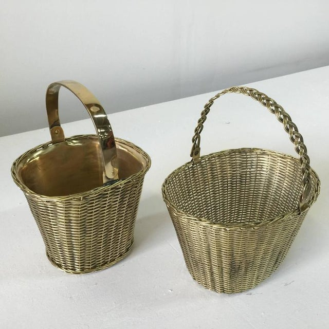 Heavy and well crafted, these woven brass baskets with adjustable handles are great for plants, orchids, fruit, etc....