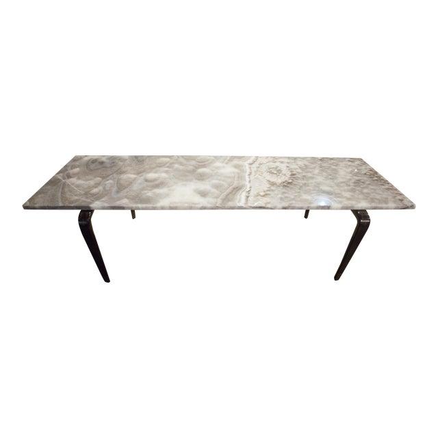 Custom Onyx Top Coffee Table For Sale