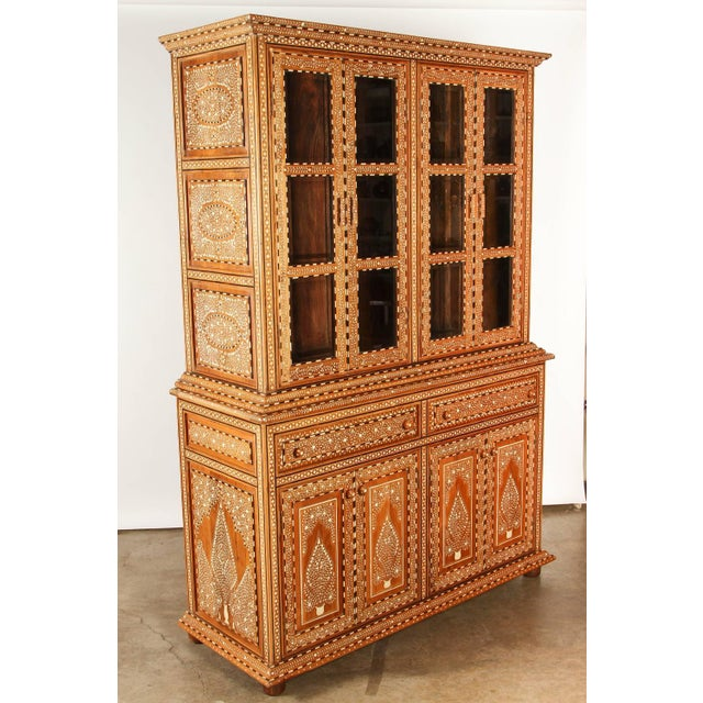 Richly Inlaid Indian Cabinet - Image 8 of 10