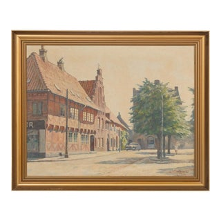 Mid- C. Danish City Street by Hans Kruuse For Sale