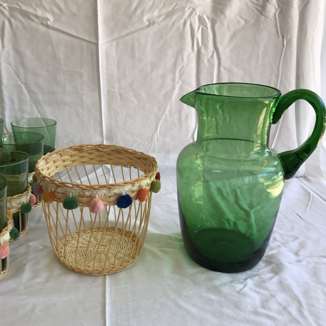 Fiesta Green Glass Beverage Set - Set of 13 - Image 6 of 6