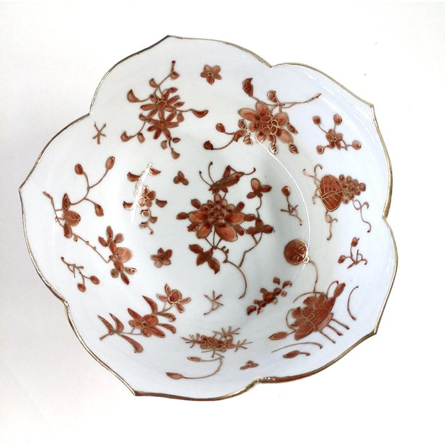 Vintage Hand-Painted Chinese Porcelain Lotus Bowl - Image 4 of 9