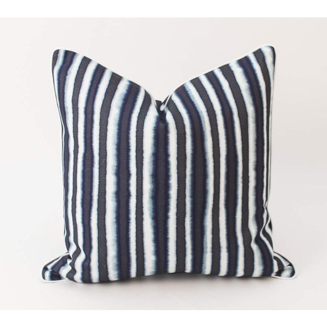 Traditional Blue Baxter Ombre Pillows, a Pair For Sale - Image 3 of 8