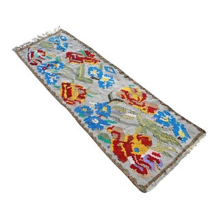 "Turkish Floral Kilim Runner-1'11'x5'7"" For Sale"