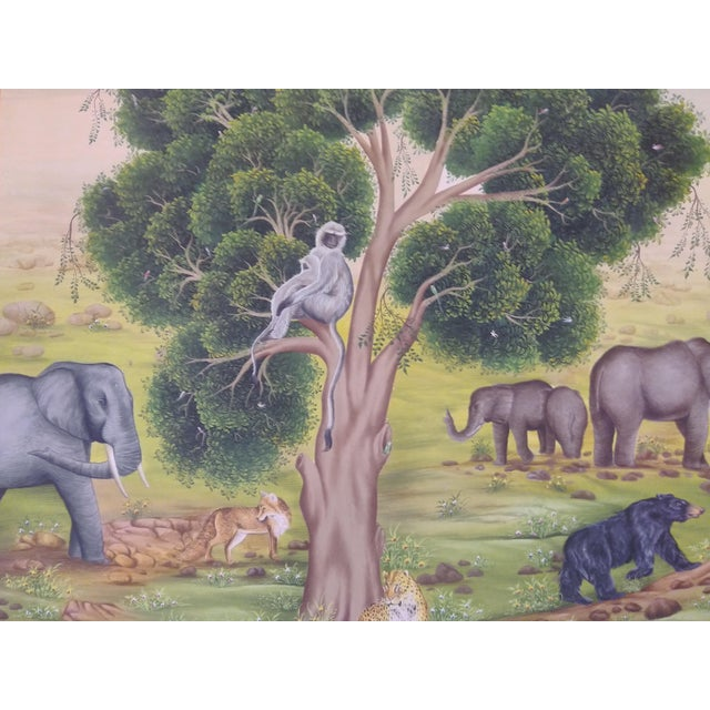 A very fine Miniature Painting of Tree Of Life. A very fine and delicate piece of art. Painted on Vasli paper which is...
