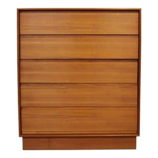 Danish Teak Plinth Base Dresser For Sale