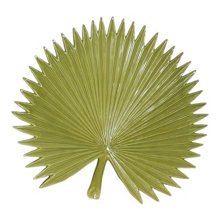 Global Views Palm Leaf Platter With Feet For Sale