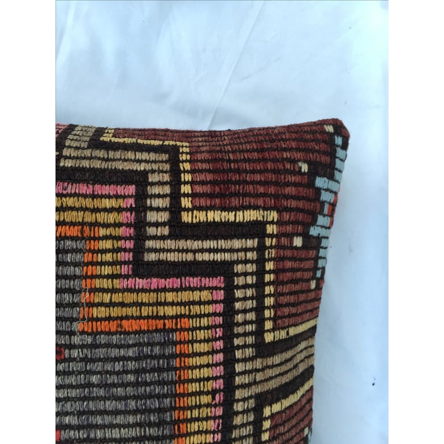 Southwestern Woven Kilim Pillow For Sale In Los Angeles - Image 6 of 7