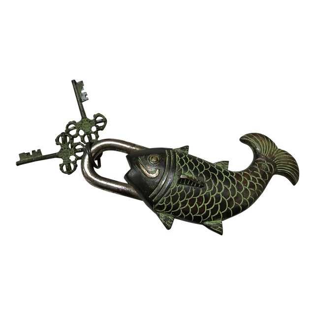 Tibetian Mystery Koi Fish Lock & Keys - Image 1 of 10