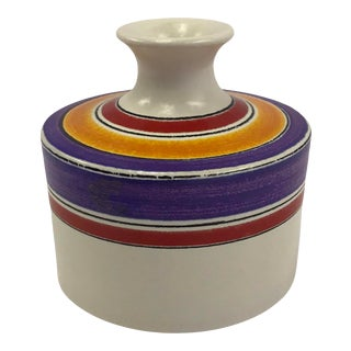 1970s Aldo Londi Fascie Colorate or Color Striped Vase Design for Bitossi Made for Rosenthal Netter For Sale