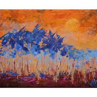 "Celeste Plowden ""Sunset Palms #2"" Painting"
