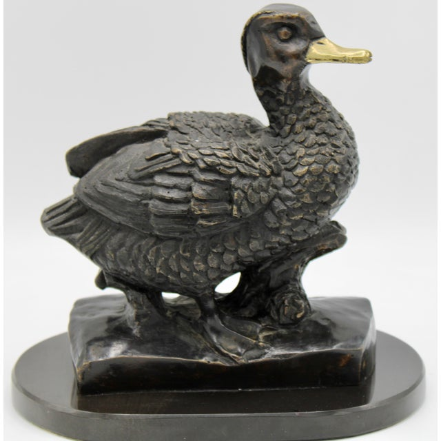 1950s Vintage Bronze Waterfowl Sculpture For Sale - Image 13 of 13