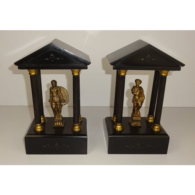Belgian Miniature Marble & Bronze Temples - A Pair - Image 4 of 11